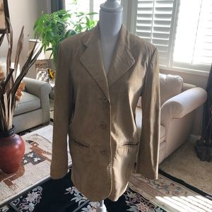 Women's Tan Suede jacket Size Small